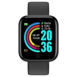 Smartwatch bracelet D20 pulseira silicone preto