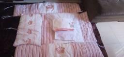 Kit Berço 100% algodão todo Bordado Novo Nunca usado