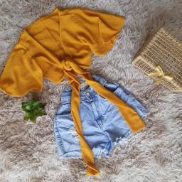 CROPPED E SHORT JEANS