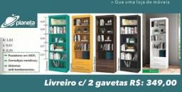 Estante de livros c/2 gavetas