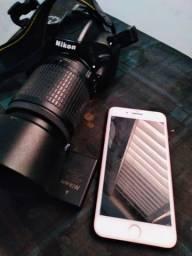 Troco por iphone camera Nikon + iPhone 7 Plus