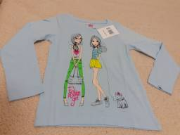Camiseta manga longa menina (5 anos) Nova