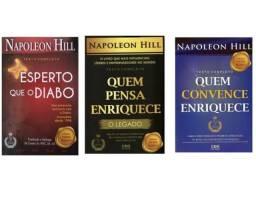 """KIT Napoleon Hill """"Mais Esperto que o Diabo"""" ,""""Quem Convence Enriquece"""""""