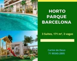 Imperdível:  Horto Parque Barcelona, 4 suítes Alto Padrão, 171 m², 3 vagas