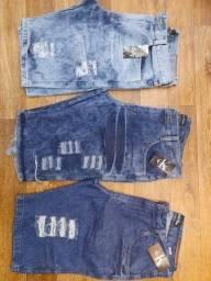 Kit 3 Bermudas Jeans (Promoção)