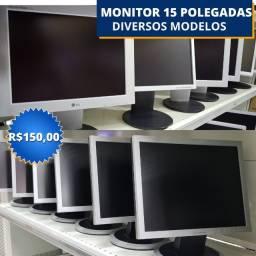 Título do anúncio: Monitores Diversos 15 Polegadas! Loja Fisica Curitiba! a partir de