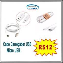Cabo USB Micro USB 2A Reforçado para Sansung, Xiaomi, Motorola e outros