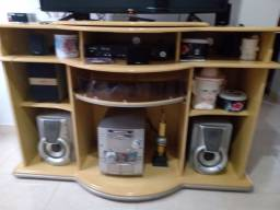 Rack na cor Marfim prato televisãogiratório