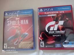 Jogos Gran turismo e Spiderman lacrado ps4