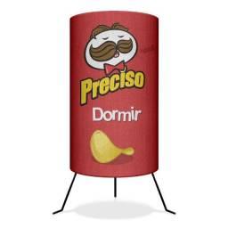 Luminária Abajur Pringles Preciso Dormir 20% 0FF