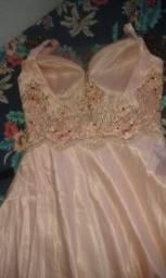 Vestido longo madrinha rosê