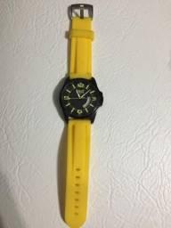 Relógio Everlast Original Fundo Preto Com Pulseira Amarela comprar usado  São Paulo