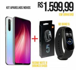 Redmi Note 8 branco 64gb + Mi Band 5