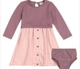 Vestido bebê com calcinha PUC