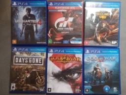 Coleção de exclusivos Playstation 4
