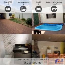 Casa 3 quartos sendo 2 suítes, R$250.000,00, Jardim São José, Goiânia - GO