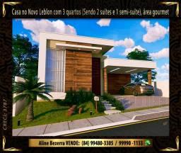 Casa no condomínio Novo Leblon com 3 quartos, com energia solar