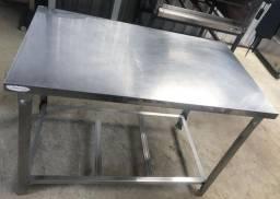 Mesa de Inox Desmontável 1.20x70 R$600
