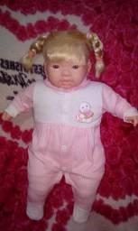 Bonecas leva as 3 de rosa e roxo falam