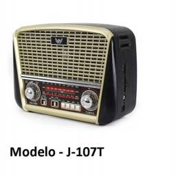 Rádio Vintage / Retrô / Am Fm Sw Usb Cartão Sd - J-107t - Com Lanterna