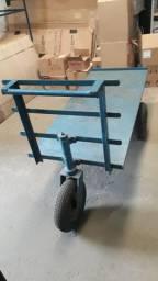Carrinho plataforma carga movimentação materiais bem robusto