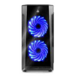 Gabinete Gamer Mid-Tower Mancer Ares Lateral Acrilico 2 Fans
