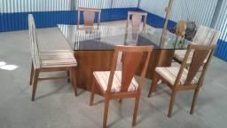 Mesa de jantar 6 cadeiras luxuosa