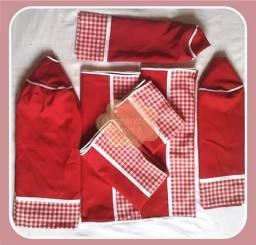 Conjunto de cozinha de tecido
