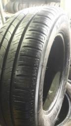 1 pneu 195 65 15 Michelin 95%borracha sem defeitos