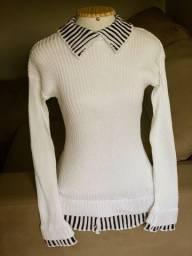 Blusa sobreposição tricot