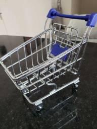 Miniatura de carrinho de supermercado