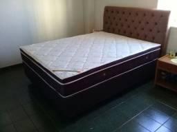 ::: Conjunto Cama box Colchao Exclussivo Ortobom Ortopedico casal Mega Oferta