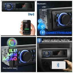 Aparelho Som Automotivo Multilaser radio toca cd bluetooth