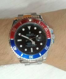 Relógio Rolex Detalhe Vermelho e Azul