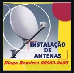 Suporte técnico em antenas via satélite