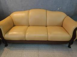 Jogo de sofá em couro, em perfeito estado