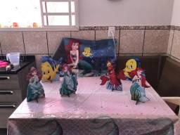 Kit festa Ariel Sereia e Dragon ball Z