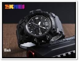 Relógio Skmei Black Digital e Analogico. Super Shock