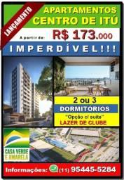 Apartamentos em Itú - 2 ou 3 dormitórios-Opção com Suíte