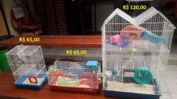 3 Gaiolas com acessórios para Hamster - Vendo separado também