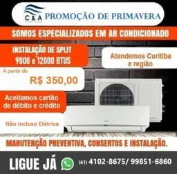 + Instalação de Ar Condicionado SPlit+