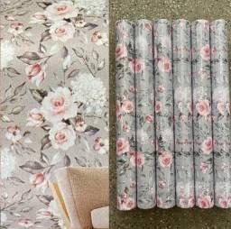 Título do anúncio: Estampa de flores papel parede autocolante