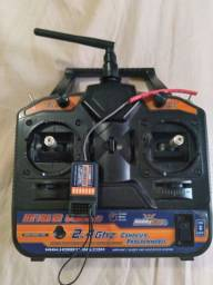 Radio Controle e Receptor 6 Canais
