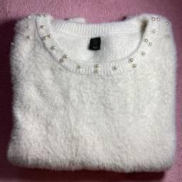 Blusão branco novo em ótimo estado