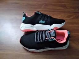 Título do anúncio: Tênis BlackFree Preto/Pink Running 36 - entrego