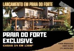 Praia do Forte - Lançamento de casas 3/4 -Praia do forte Exclusive-CB