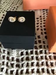 Brinco Diamantes e Topázio VIVARA