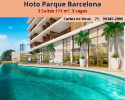 Horto Parque Barcelona, 4 suítes Alto Padrão, 171 m², Torre Única, 3 vagas, nascente