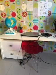 Cadeira infantil escritório acrílico
