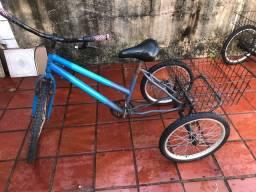Tricicolo Azul cesta de carga